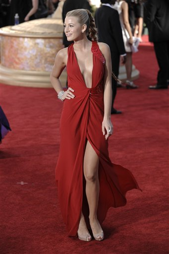 Actress Blake Lively arrives at the 61st Primetime Emmy Awards on Sunday,