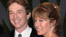 In this Feb. 22, 2009 file photo, actor Martin Short and his wife Nancy Dolman arrive at the Vanity Fair Oscar party in West Hollywood, Calif. Short's manager on Monday, Aug. 23, 2010 said that Dolman, Short's wife of 30 years, has died. She was 58. (AP Photo/Evan Agostini, File)