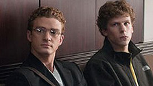 Justin Timberlake and Jesse Eisenberg appear in a scene from 'The Social Network'. (Photo courtesy of Columbia Pictures / Relativity Media)