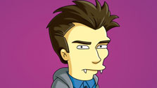 Edmund, who will be voiced by 'Harry Potter' star Daniel Radcliffe, is a 'Simpsons' parody of 'Twilight's Edward (Fox)